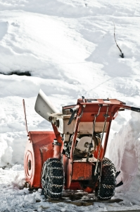 snowblower in snow