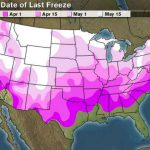 Average Dates of Last Freeze – Frost