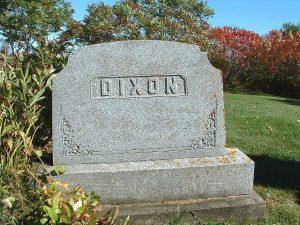 Dixon-Tombstone