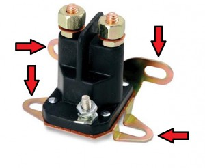 four post solenoid mounting brackets