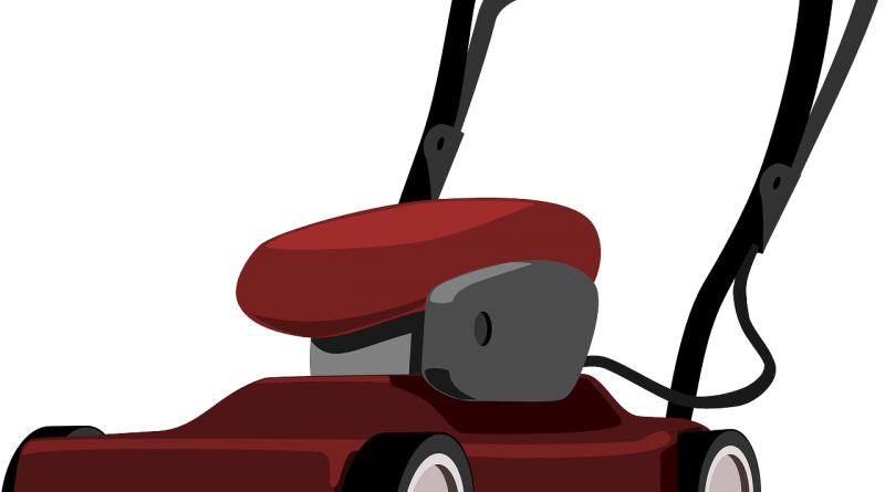 Push Mower Cartoon