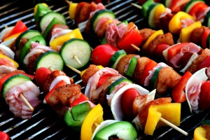 Shish Kebobs on the grill