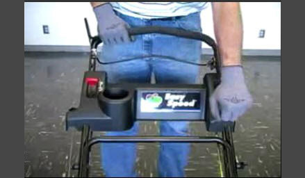 how to adjust drive speed on self propelled mower