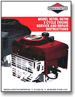 BRIGGS AND STRATTON 800100 Briggs & Stratton 2-cycle Repair Manual - 800100