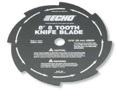 ECHO 69600120331 8 INCH 8 TOOTH GRASS AND WEED BLADE - 20mm ARBOR