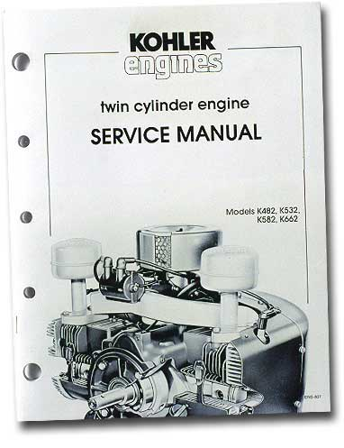 Kohler ENS607 Engine Service Manual For Twin Cylinder K-Series Engines