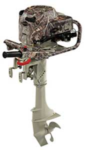 BRIGGS AND STRATTON-BS04501-CAMOUFLAGE 5 HP, 4-CYCLE OUTBOARD MOTOR