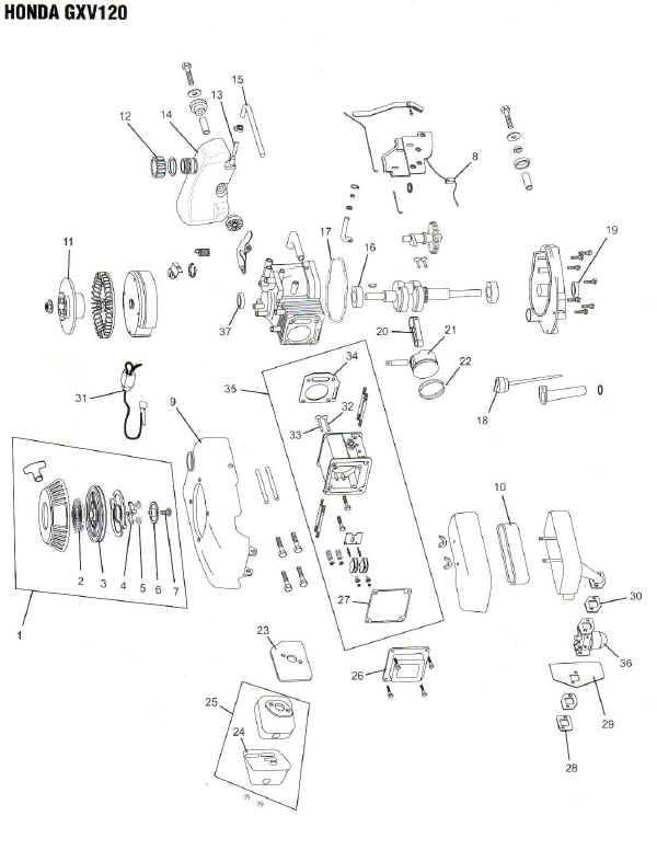 Honda Gxv120 Engine Parts Diagram