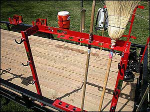 TrimmerTrap HT-1-2 Hand Tool Rack for Open Trailer Trimmer Racks