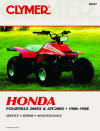 Honda Fourtrax 200SX and ATC200X, 1986-1988 Repair Manual