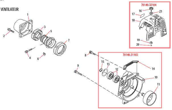 Shindaiwa AH230 Articulated Hedge Trimmer Cylinder Cover Parts Diagram