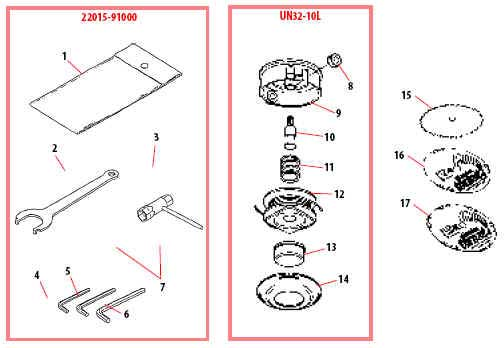 Shindaiwa B45 Trimmer Head Parts Diagram