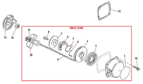 Shindaiwa C35 Recoil Starter Parts Diagram