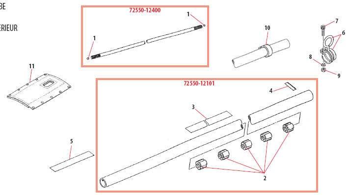Shindaiwa B450 Main Shaft Parts Diagram