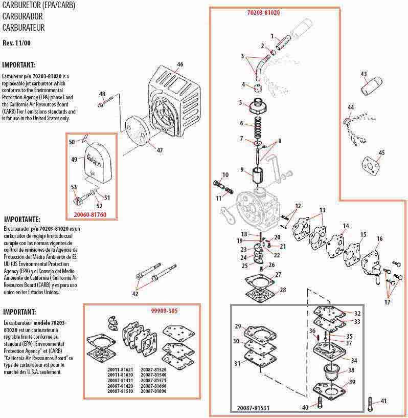 Shindaiwa C350 Brushcutter Illustrated Parts Diagram
