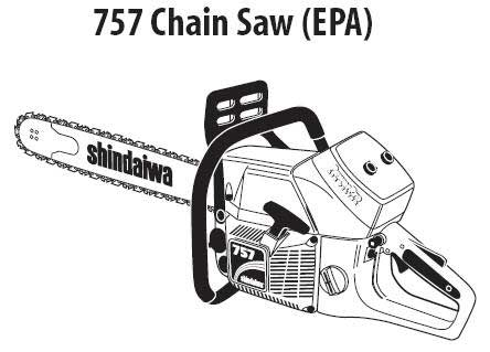 Shindaiwa 757 EPA Chain Saw Parts