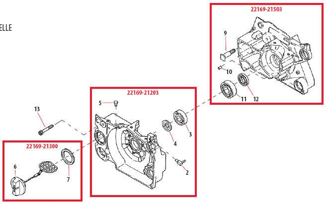 Shindaiwa 757EPA Crankcase Parts Diagram