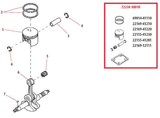 Shindaiwa 757EPA Piston Parts Diagram