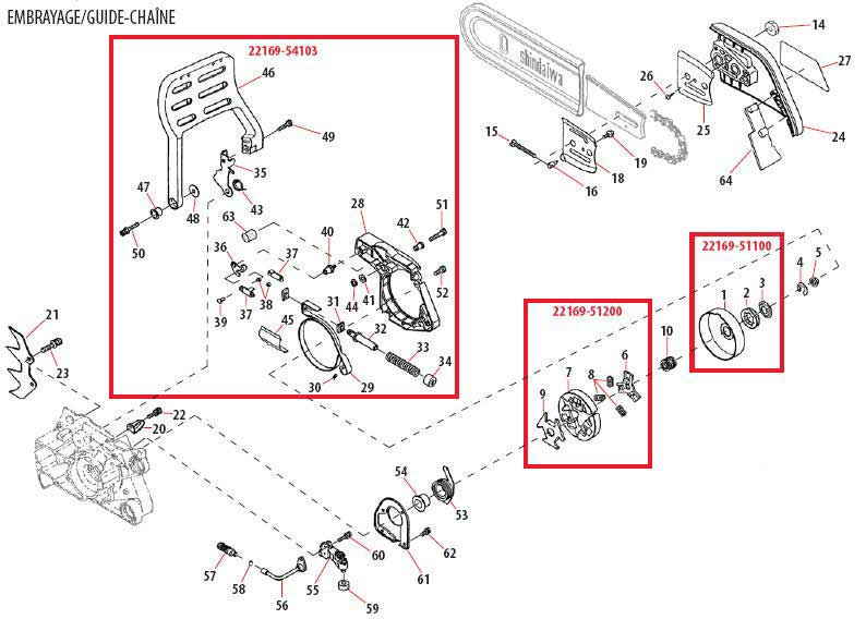 Shindaiwa 757EPA Brake Handle Parts Diagram