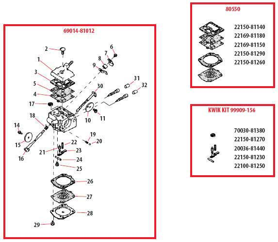 Shindaiwa 757EPA Carburetor Parts Diagram