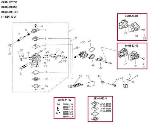 shindaiwa 352s chain saw parts diagrams online