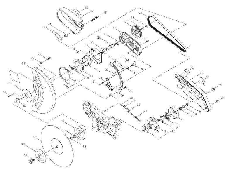 Shindaiwa Ec7500epa And 7600epa Cut Off Saws Parts Diagrams