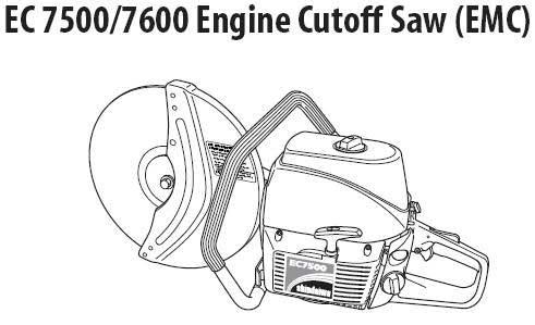 Shindaiwa EC7500EMC and EC7600EMC Cutoff Saw Parts Diagrams ...