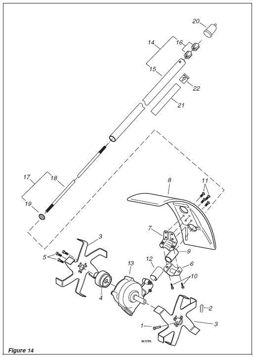 Shindaiwa Cultivator Illustrated Parts List