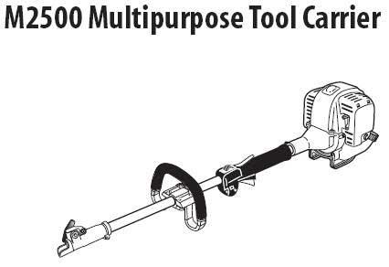 Shindaiwa M2500 Multi-Tool Parts