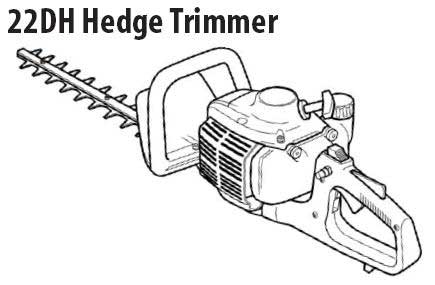 Shindaiwa 22DH Hedge Trimmer Parts