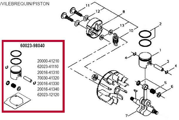 Shindaiwa AHS231 Piston Parts Diagram
