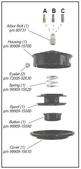 Shindaiwa UN32 Trimmer Head Illustrated Parts List