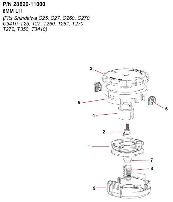 Shindaiw Speed-Feed 450 28820-11000 Pars Diagram