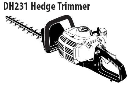 Shindaiwa DH231 Hedge Trimmer Parts