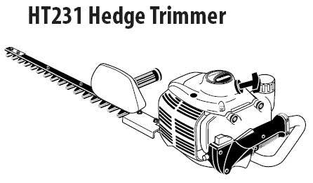 Shindaiwa HT231 Hedge Trimmer Parts