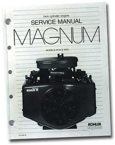 Kohler TP2204B Engine Service Manual For Twin Cylinder Magnum Engines