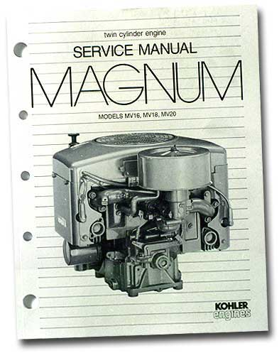 Kohler TP2289A Engine Service Manual For Twin Cylinder Magnum Engines