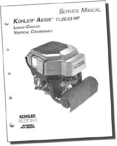 Kohler TP2509 Engine Service Manual For Twin Cylinder Liquid-Cooled Engines