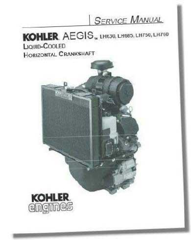 Kohler TP2527 Engine Service Manual For Twin Cylinder Liquid-Cooled Aegis