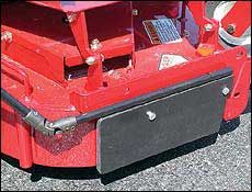 TrimmerTrap BB-1-WB-3 Blade Blocker for Walk Behind Mowers (5 x 24 Baffle)