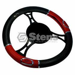 STENS 051-939 STEERING WHEEL COVER UNIVERSAL RED/BLACK