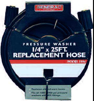 BRIGGS AND STRATTON 100512GS HOSE, 1/4 X 25 FT, 2400PSI