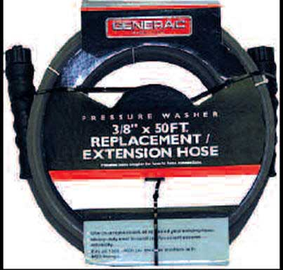 BRIGGS AND STRATTON 205734GS PRESSURE WASHER HOSE, 50 FT