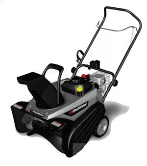"MURRAY 1695885 22"" Single Stage Snow Thrower"