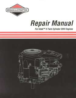 BRIGGS AND STRATTON 273521 REPAIR MANUAL INTEK V-TWIN OHV