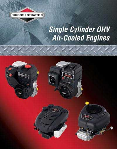 BRIGGS AND STRATTON 276781 INTEK SINGLE CLYINDER OHV REPAIR MANUAL