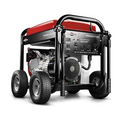 BRIGGS AND STRATTON BS30336 6500 WATT PRO SERIES GENERATOR