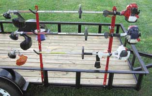JUNGLE JIMS 3TR TRIMMER RACK FOR THREE TRIMMER