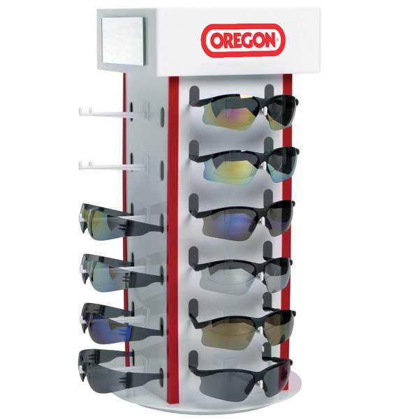 oregon 42 149 safety eyewear display rack lawnmower pros