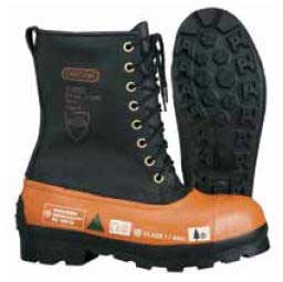 OREGON 537309-8 CHAINSAW BOOT - LEATHER UPPER - SIZE 8, LUG SOLE